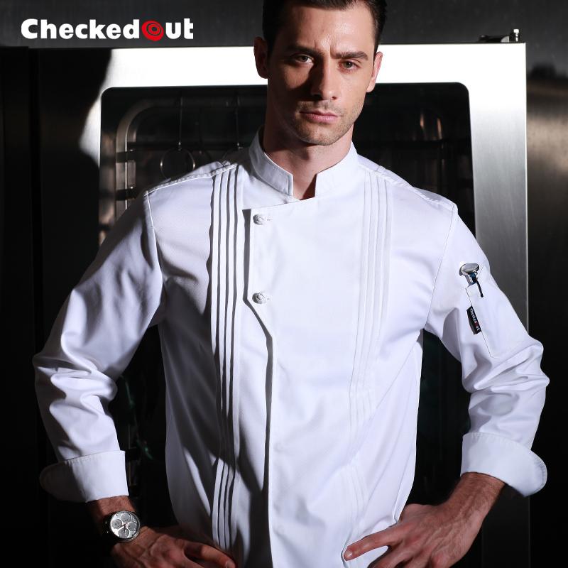 厨师长工作服春季总厨制服饭店餐饮后厨男厨师服装厨师服长袖厚款