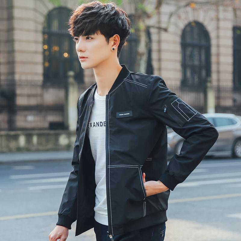 外套男2017春季新款棒球服韩版潮流学生薄款青少年男装修身夹克男