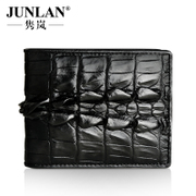 Chun LAN short men's wallets, genuine leather genuine crocodile skin purse fashion trend of the business card wallet