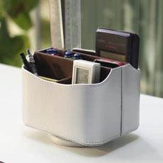 欧式旋转手机遥控器收纳盒 创意客厅桌面整理盒 zakka茶几置物架