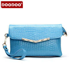Doodoo2015 winter tide Korean small stone grain Crossbody shoulder bag handbag clutch bag clutch