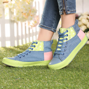Special offer clearance summer air flat bottom Hi-colour matching female sweet candy-colored canvas casual shoe ball shoes