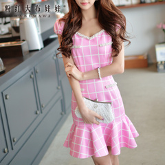 Summer pink dress dolls slim tail bag hip dress summer 2015 summer styles dresses skirts