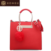 Honggu red Valley counter 2016 new solid color portable diagonal ethnic shoulder bag 6941