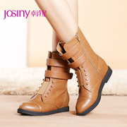 Zhuo Shini 2014 Winter new style women boots leisure rough biker boots with sleeve 144276034