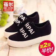 Becky's autumn new letters increased Velcro sneakers girl Korean version flows casual shoes women's shoes shoes package mail