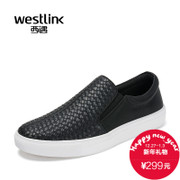 Westlink/West spring 2016 new weave a pedal-like Lok Fu shoes platform sport men's shoes