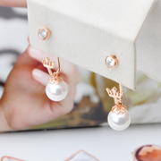 Ya na Crown earrings Pearl Earrings Lady love long Pearl Earrings women''s earrings are hypoallergenic