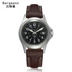 Bergmann贝格曼 德国品质手表男士全自动机械表精钢日历休闲男表