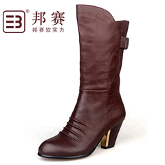 State game counters middle-aged lady OL boots suede leather boots fashion women's boots-in-tube clearance specials