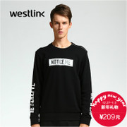 Westlink/West 2015 winter new men's letters printed cotton crew neck long sleeve Turtleneck Sweater