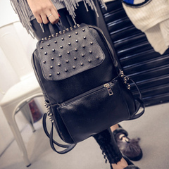 Beauty about fall/winter handbags 2015 new Korean rivet backpack street fashion backpacks student bags travel bags