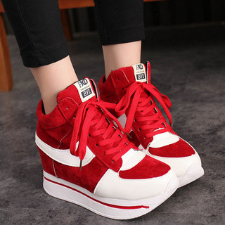 2015 new increases in cashmere and wool in winter sports and leisure shoes platform Korean shoes platform increases student shoes