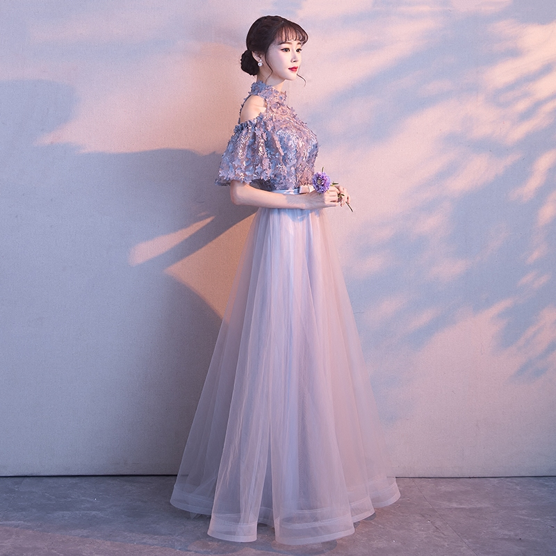 冬季晚礼服裙2017新款宴会公主性感主持人女韩版修身显瘦优雅长款