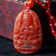 2016 opening thousand hands Kwan-Yin pendant natural red agate chalcedony rat natal men and women