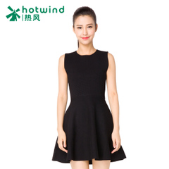 Hot Black sleeveless dress skirt skirts in the spring and autumn the Korean version of a sleeveless dress skirt 19H5701