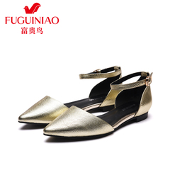 Fuguiniao shoes spring 2016 new leather shoes shoes women air pointy shoes flats shoes