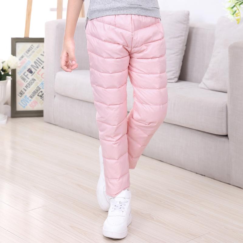 2017冬款女童羽绒长裤内胆裤中大童轻薄羽绒裤正品90%白鸭绒包邮