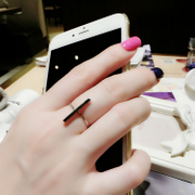 Powder makeup Korean long stylish geometric simplicity of smooth gold silver ring wild temperament female finger ring