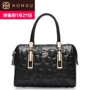 Honggu red Valley women for 2016 new rhombic leather handbag shoulder bag pillow 8067