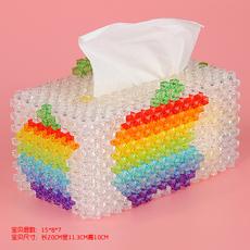 大号苹果海底世界 纸巾盒抽纸盒摆件摆饰 手工串珠diy饰品材料包