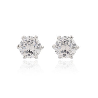 Love fine micro inlaid zircon earrings Super Flash wild temperament rounded full rhinestone earrings women''s accessories