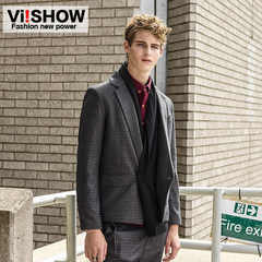 Viishow new men's suits men are one single breasted skinny suits casual civilian clothes Dan Xi