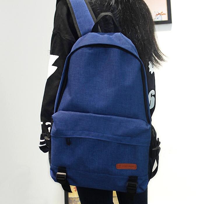 简约纯色大容量双肩包男女韩版潮学院风休闲背包中学生书包旅游包