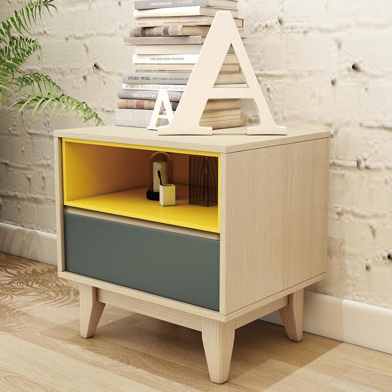 光一 北欧床头柜储物柜简约现代迷你小户型多功能卧室床边小柜子