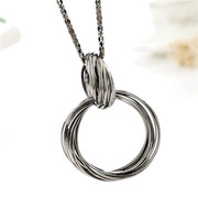 Love new large ring around Korea best matching decoration decorative jewelry necklace sweater chain long email