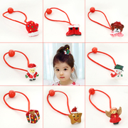 Knowing Minnie cartoon painted Christmas children''s hair accessories baby hair band tiara girls jewelry ring rope end