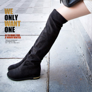 2015 mail two wearing new boots for fall/winter boots flat slim women's boots over the knee boots women boots