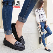 Tilly cool foot 2015 summer new style leather flat-bottom student Doug lazy shoes shoes shoes women shoes drive