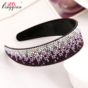 Smart hair accessories new headband, Japan wide studded belt tooth gradient headband Korean OL air quality hairpin jewelry
