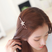 Crystal star hair clips Korea hair accessories clips frog clip bangs clip hairpin jewelry retro clip students