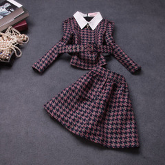 Autumn new style ladies 2014 European fashion elegance plovers suits autumn long sleeve dress #