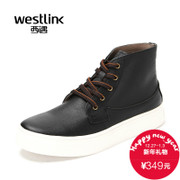 Westlink/West new tide Joker 2015 winter leather men's casual shoes with high help shoes