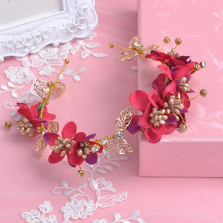 Bridal tiaras wedding accessories Han Shichun handmade hair accessories crown molding first flower accessories-optional packages-mail