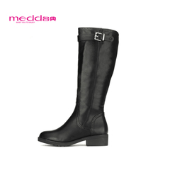 Name code 2015 winter new Europe Martin boots flat heel boots high boots belt buckle women's boots boots