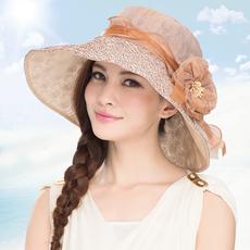 布塔新款韩版遮阳帽 夏季出游大沿防晒防紫外线太阳帽女 折叠