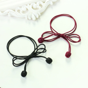 Know Connie hair accessories Korean bow ball string handmade jewelry tie solid color double elastic band rope end