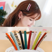 Know Connie hair Candy-colored clips simple Korean decorative headdress Duckbill Clip letter hairpin hair clip accessories clip