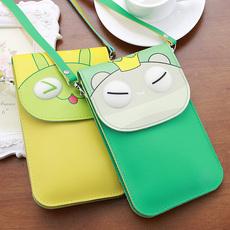 手机包可爱卡通单肩斜挎包零钱包迷你包小包包学生个性竖款手机袋