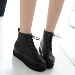 New Martin boots for fall/winter women's simple casual lace boots naked cake thick-soled boots and elegant Joker student shoes women
