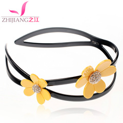 Hair clip headband Korea tiara band rhinestone sweet toothed slip Korean Daisy headband flower headband