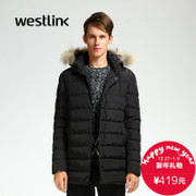 Westlink/West New 2015 winter Hat long in warm cotton men's casual black jacket