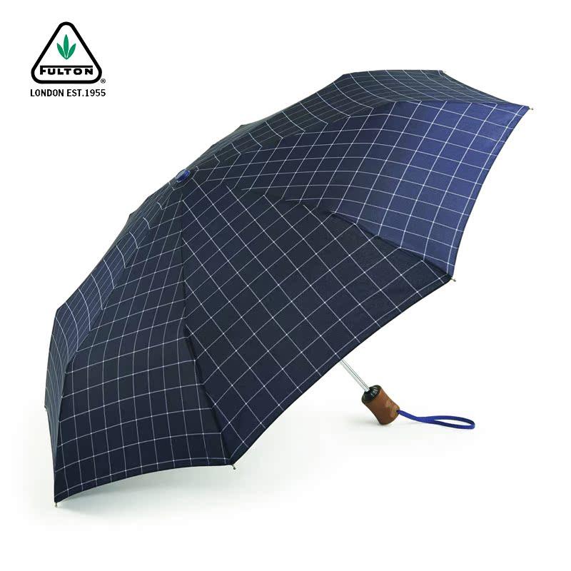 富尔顿商务全自动折叠雨伞木柄抗风复古绅士雨伞超大进口礼品雨伞