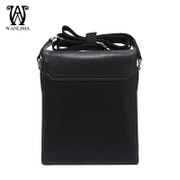 Wan Lima leather man baodan shoulder bag vertical Briefcase business trend of the first layer of leather men Messenger bag