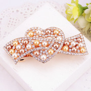 Good Korea sweet rhinestone hair accessories hairpin clip top clip bangs clip Korean temperament spring clips