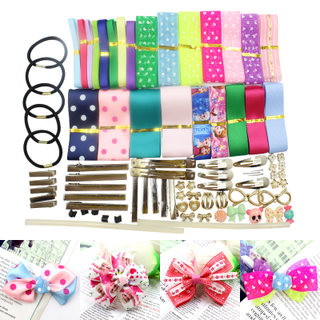 Love is jewelry handmade Ribbon girls hair ornament Barrette of Ribbon DIY loving Butterfly ornaments materials sets, Japan and Korea